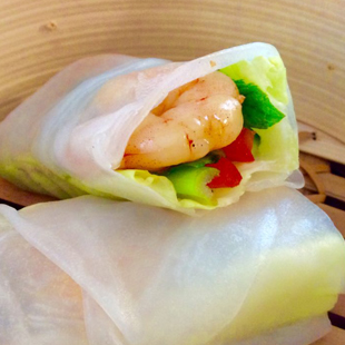 garlic-prawns-chicken-wrap-and-roll-rice-paper