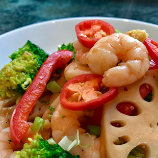 stir-fried-in-oyster-sause-prawn-broccoli-and-lotus-root