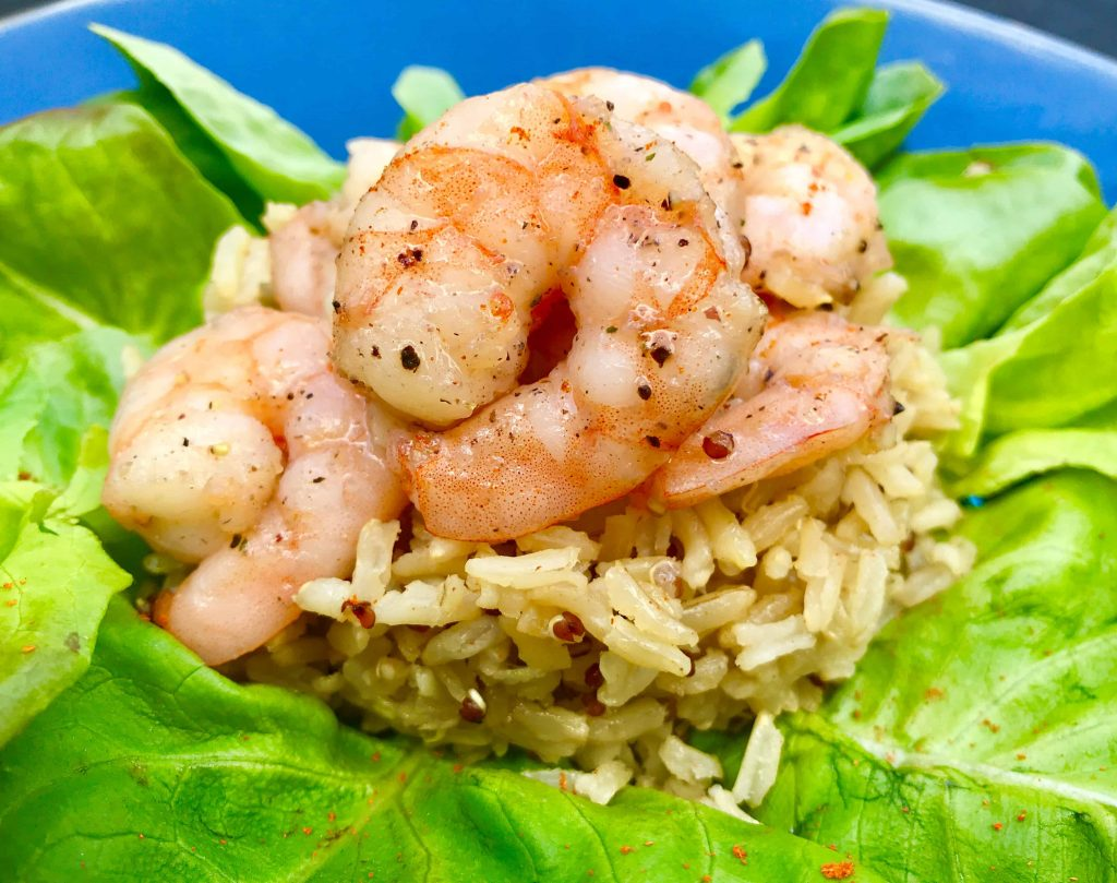 Garlic and pepper prawns